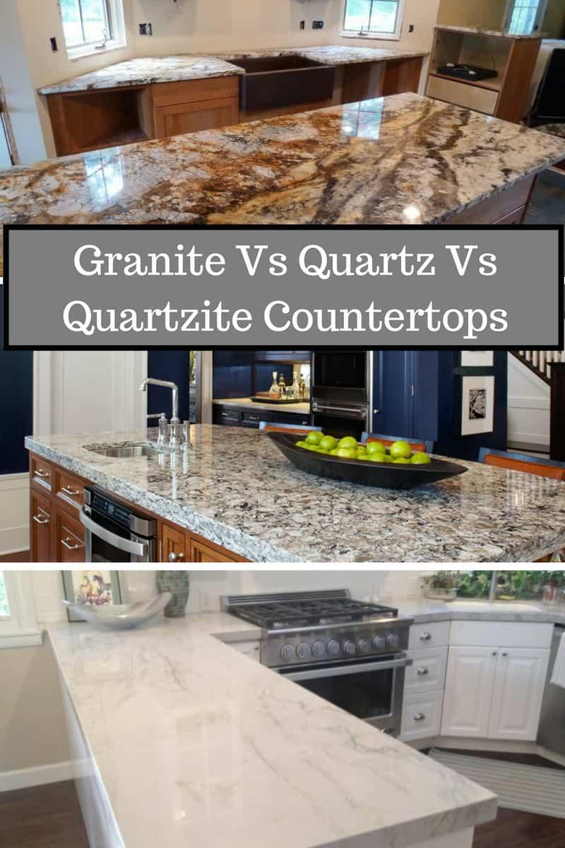 Comparison of granite, quartz, quartzite as a material in the kitchen