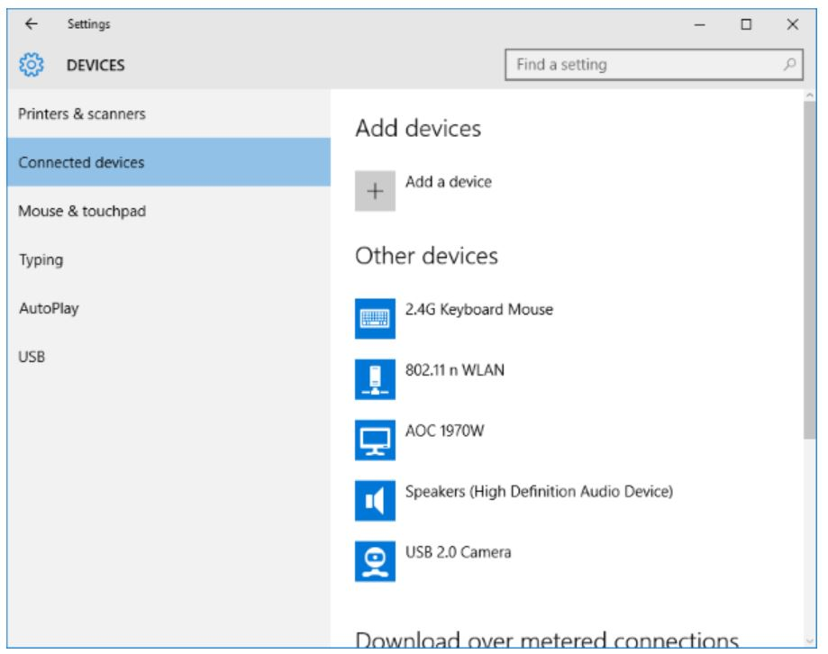 Connecting Windows 10 to another device using a Wonder Mast