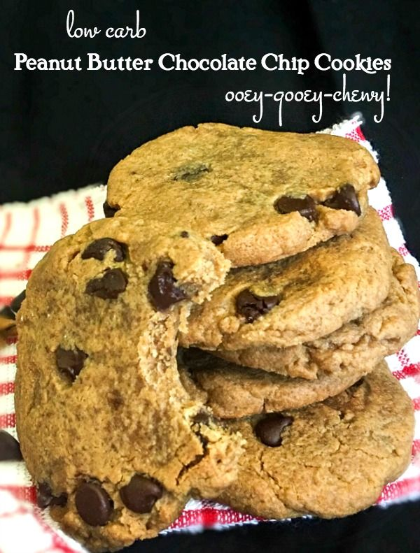 Soft Peanut Butter Chocolate Cookies: Low Carb & GF