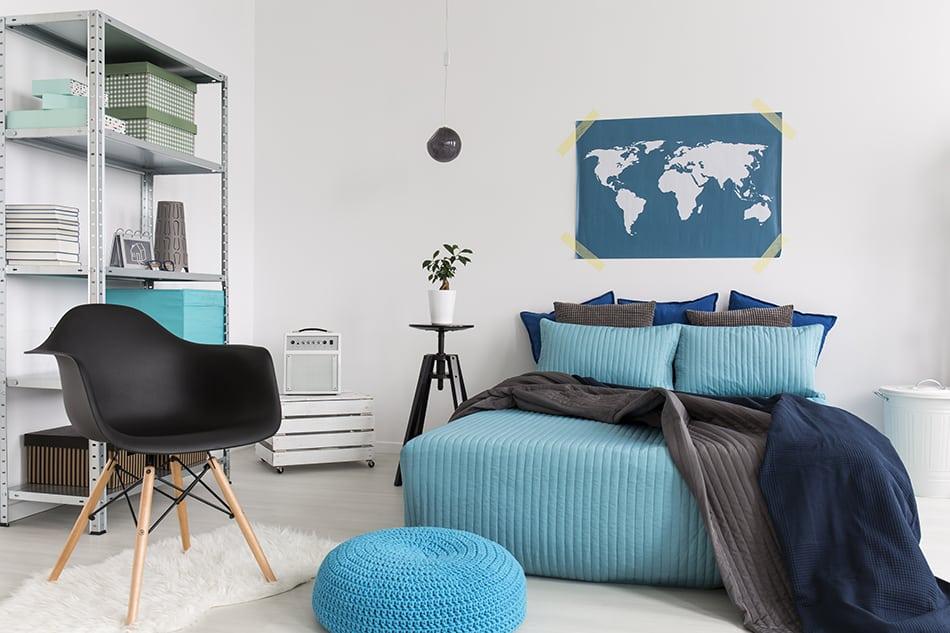 Create a blue room theme
