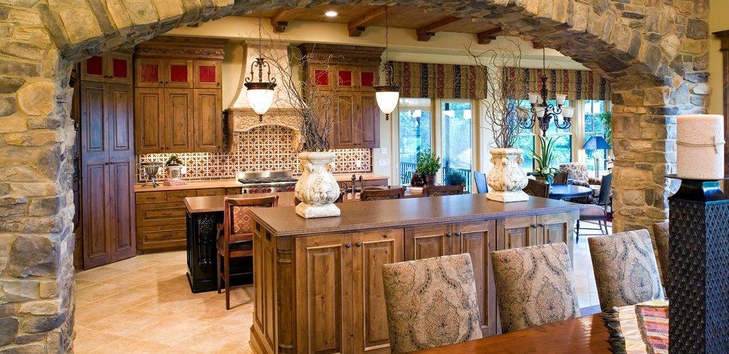 Custom dark walnut cabinets