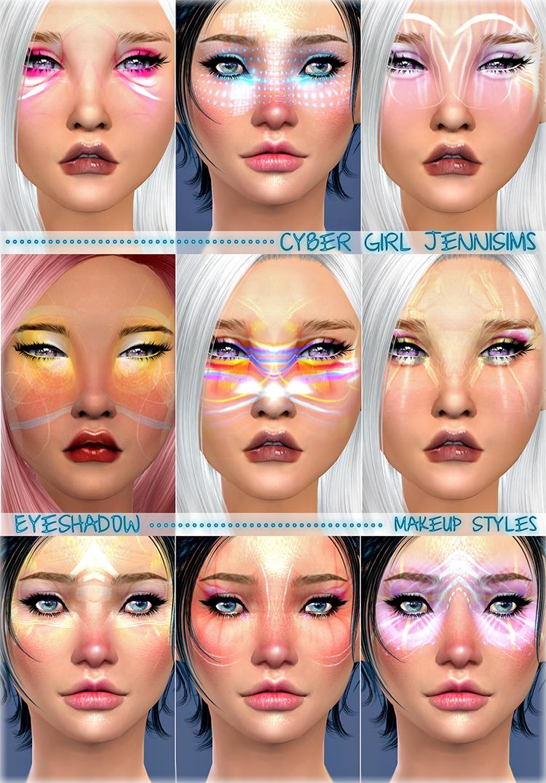 Cyber-Girl Makeup TS4 CC