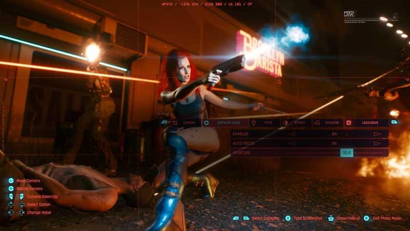 Cyberpunk 2077 Fire Mode Depth of Field Tab
