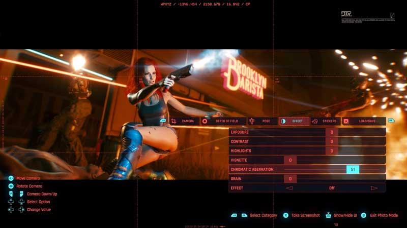 Cyberpunk 2077 photo mode securities register