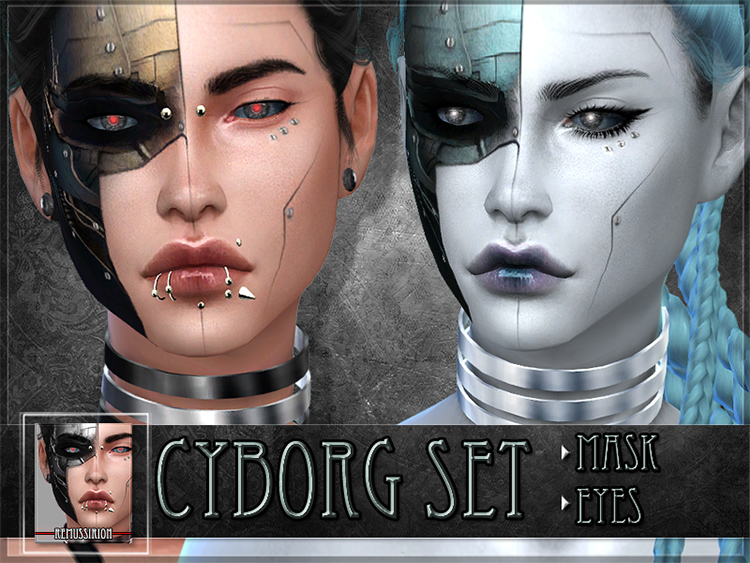 Cyborg Seth - Sims mask and outfits 4