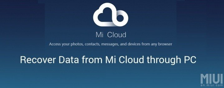 Data recovery in the Mi cloud