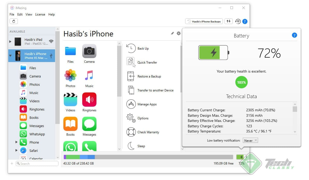 Detailed information about the Apple iPhone battery