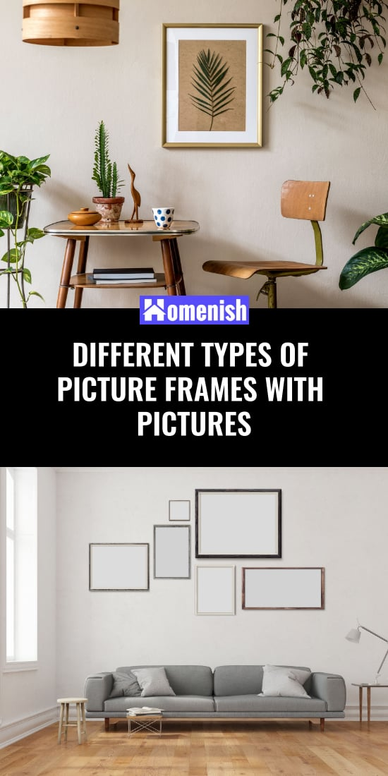 Different types of graphic frames with a single image