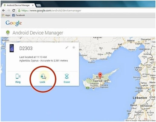Disable the LG screen lock code via the Android Device Manager