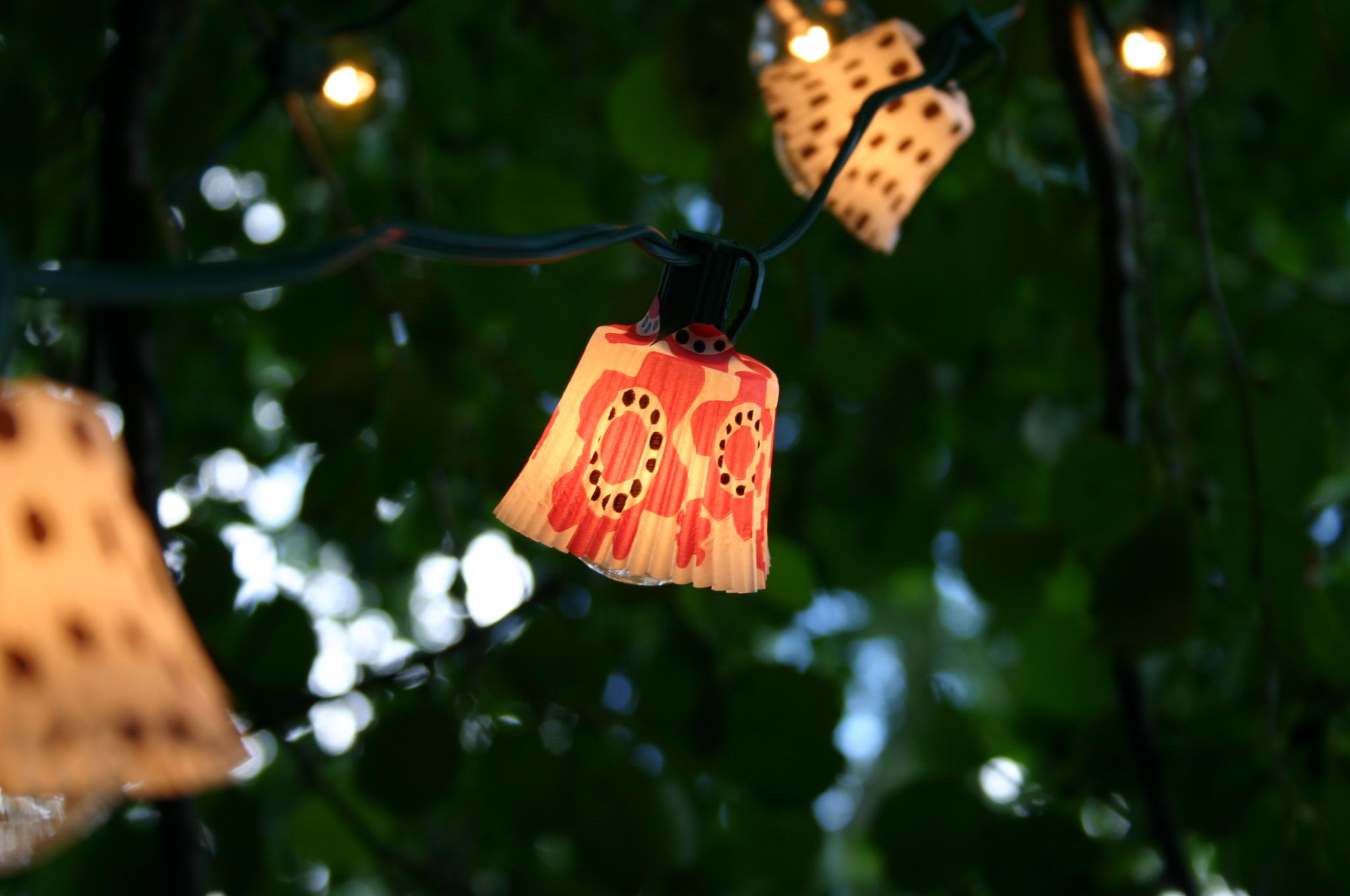 DIY Cupcake Liner Lighting Outdoor lighting