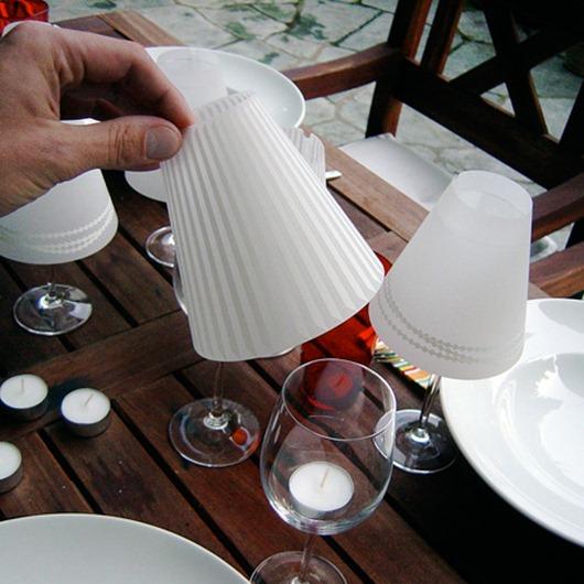 Do-it-yourself glass wine lanterns Do-it-yourself glass lanterns