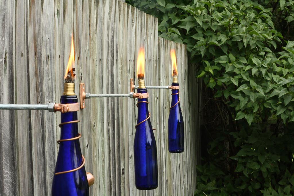 Do-it-yourself wine bottle light