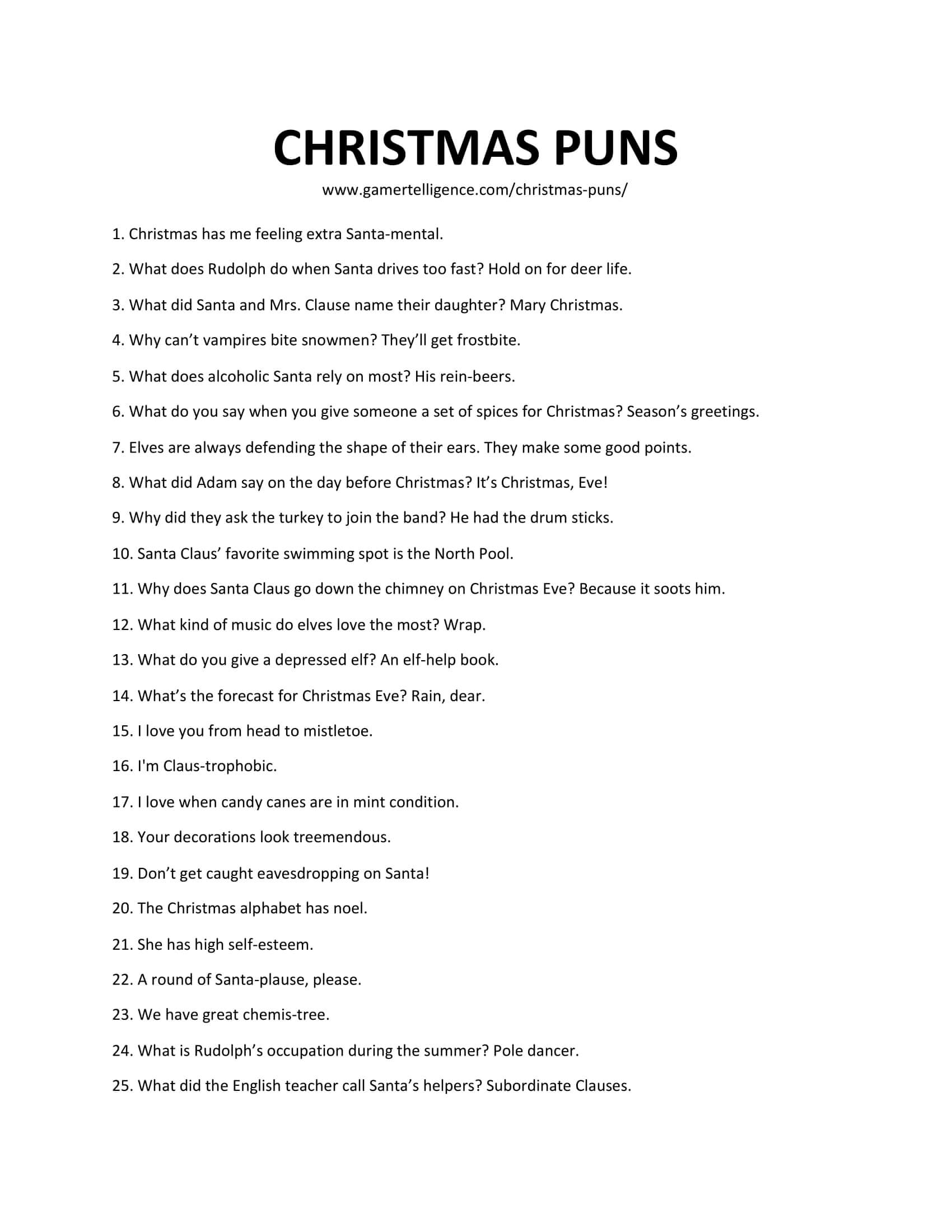 38 Best Christmas Puns – This is the only list you'll need.