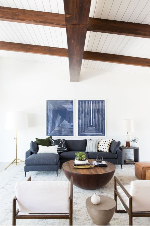 Eclectic Mid-Century Modern Living Room (from studio-mcgee.com)