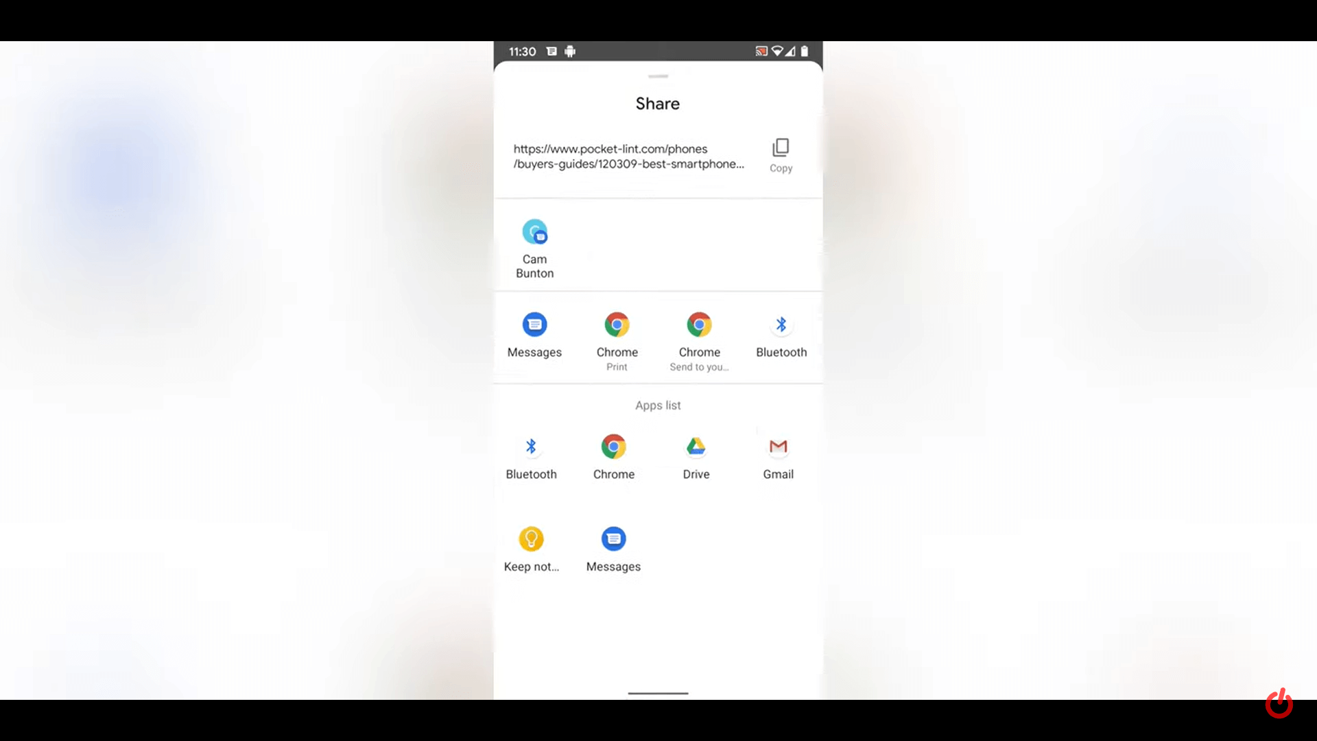 Features of the Android 11s application in the resource menu