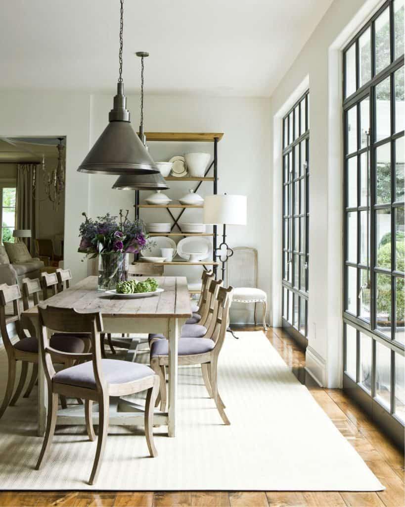French dining room walls (par. deringhall.com)