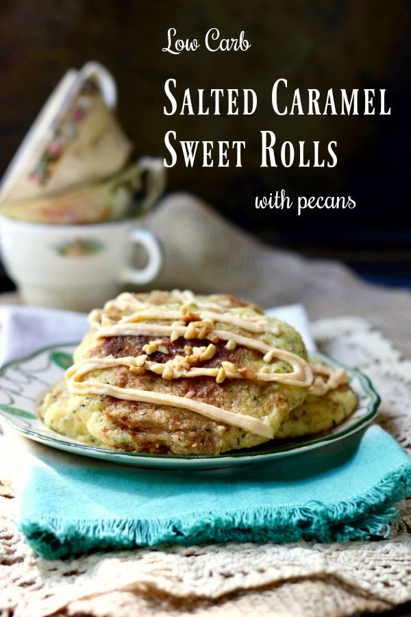 Salted Caramel Sweet Rolls: Low Carb Pastry