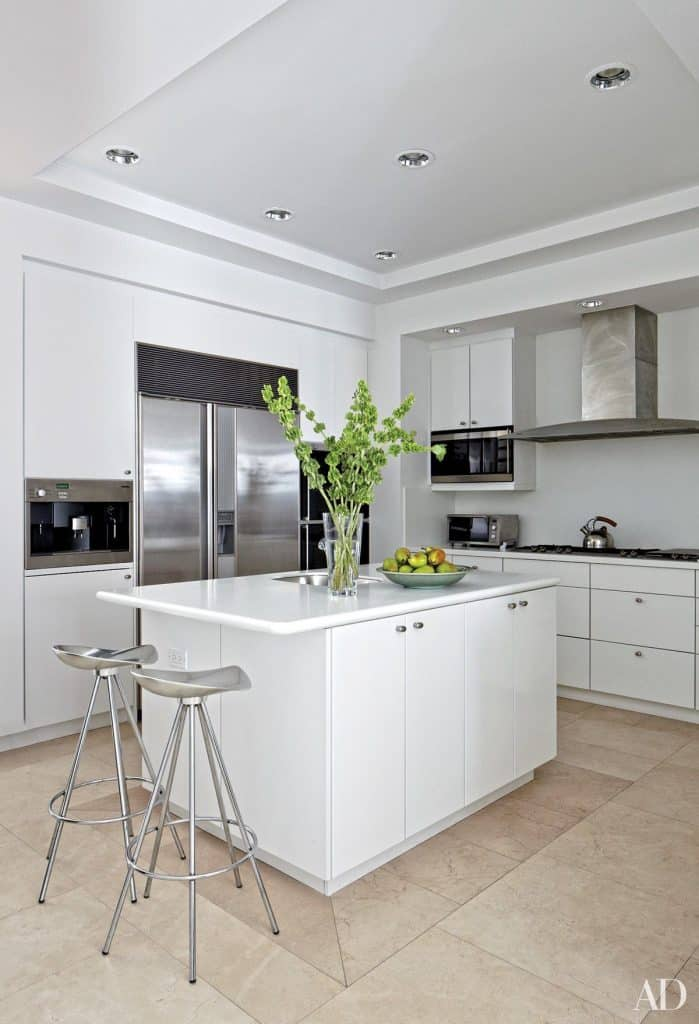 Fusion of White and Silver (from architectdigest.com)