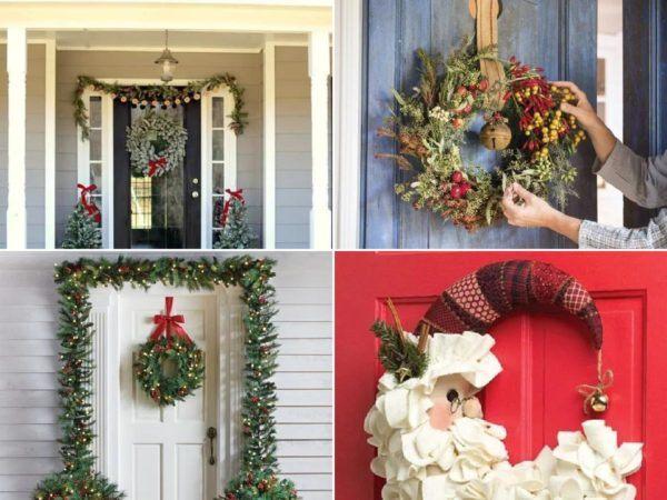Cómo decorar una puerta en Navidad 2020