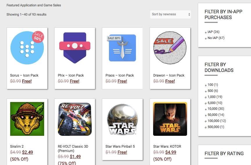 Gaming shops sales