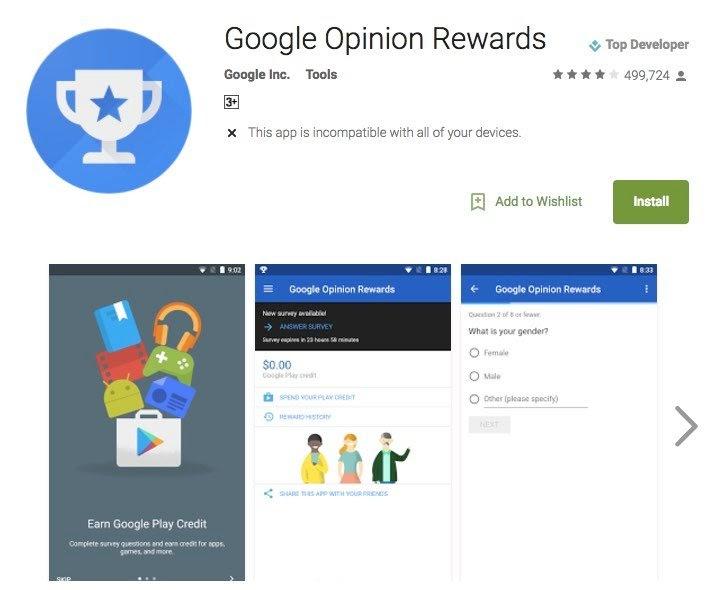 Google Rewards Application