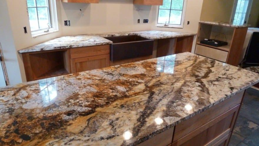 Granite worktop in the kitchen