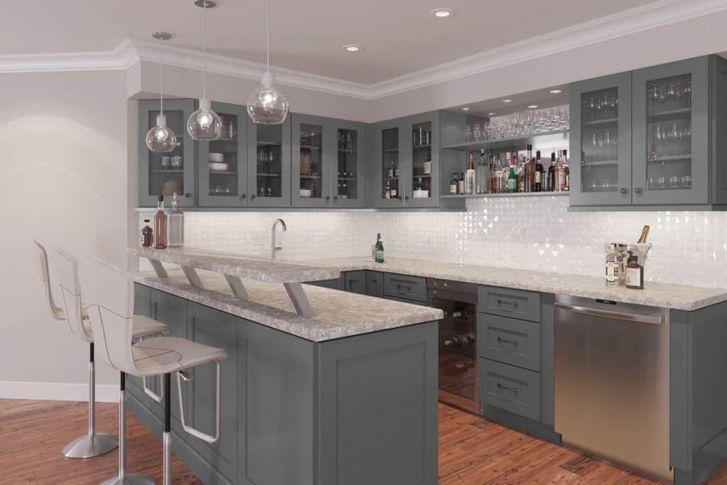 Graphite grey style cabinets (par. thertastore.com)