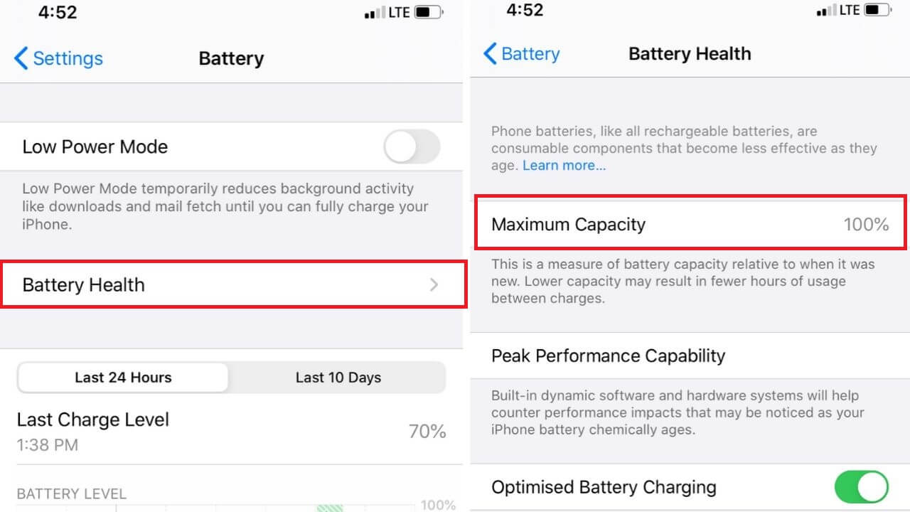 Healthy battery for iPhone