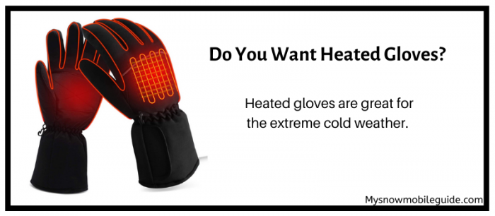Heated snowmobile gloves for cold fingers