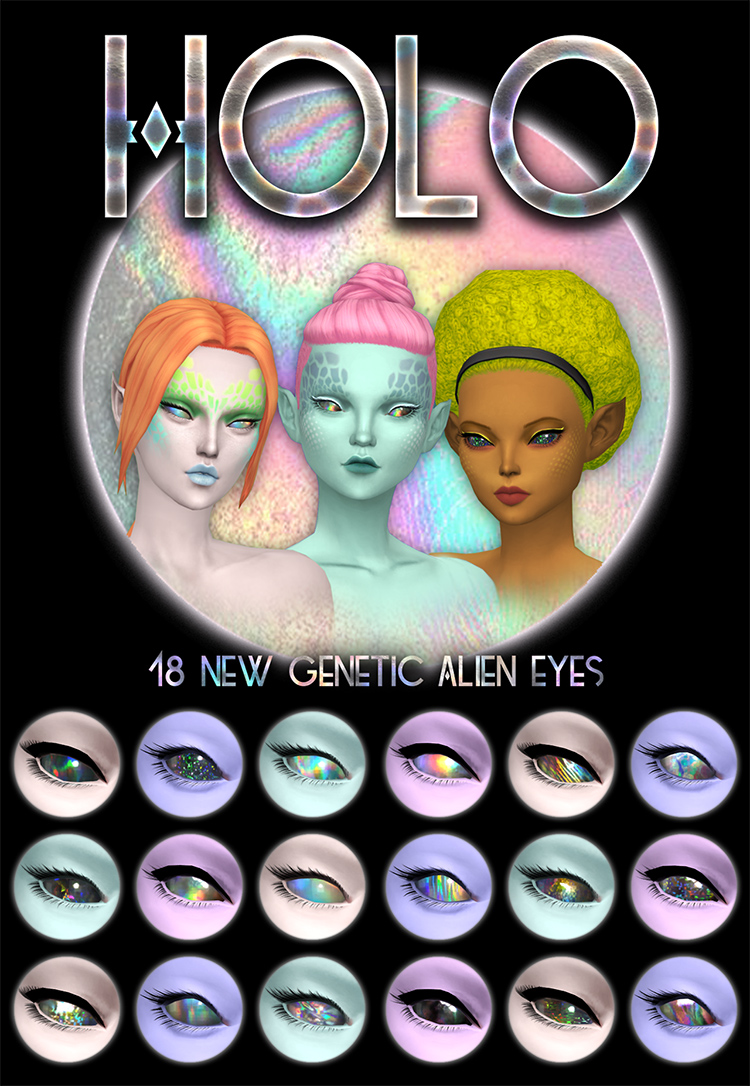 Holo-alien eyes for the Sims 4