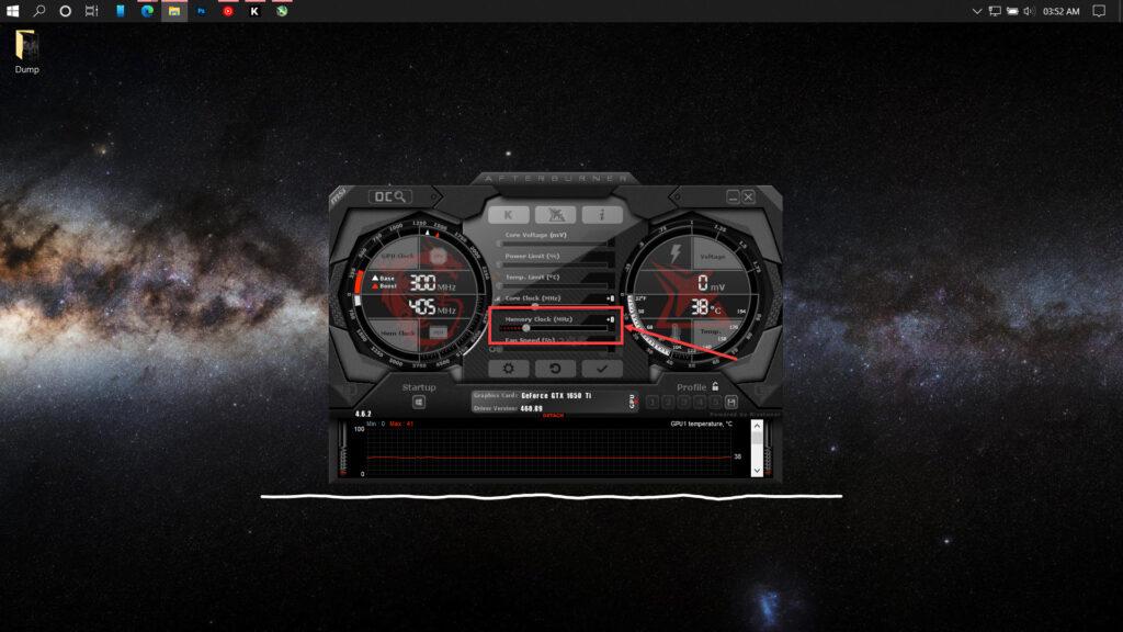 How can I use MSI afterburner to overclock my GPU?