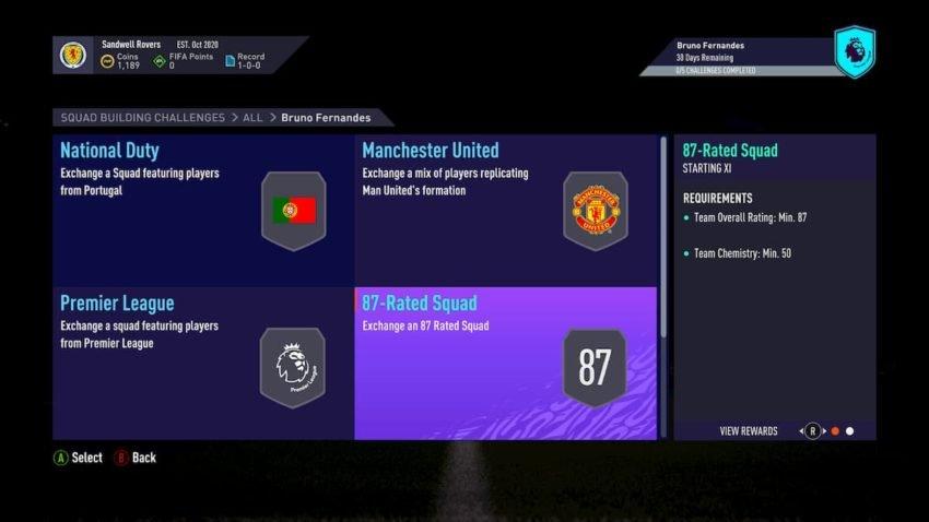 FIFA 21: How to complete POTM Bruno Fernandes SBC