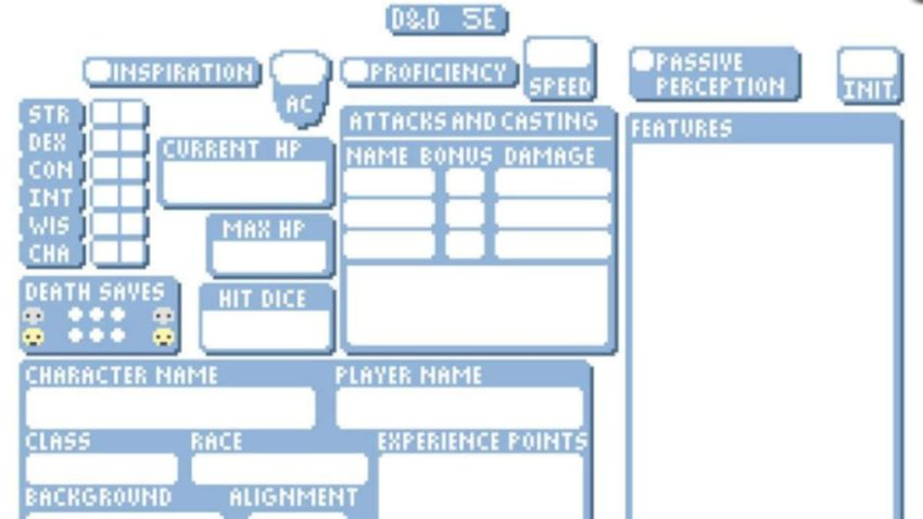 Best character sheets for Dungeons & Dragons (5th Edition)