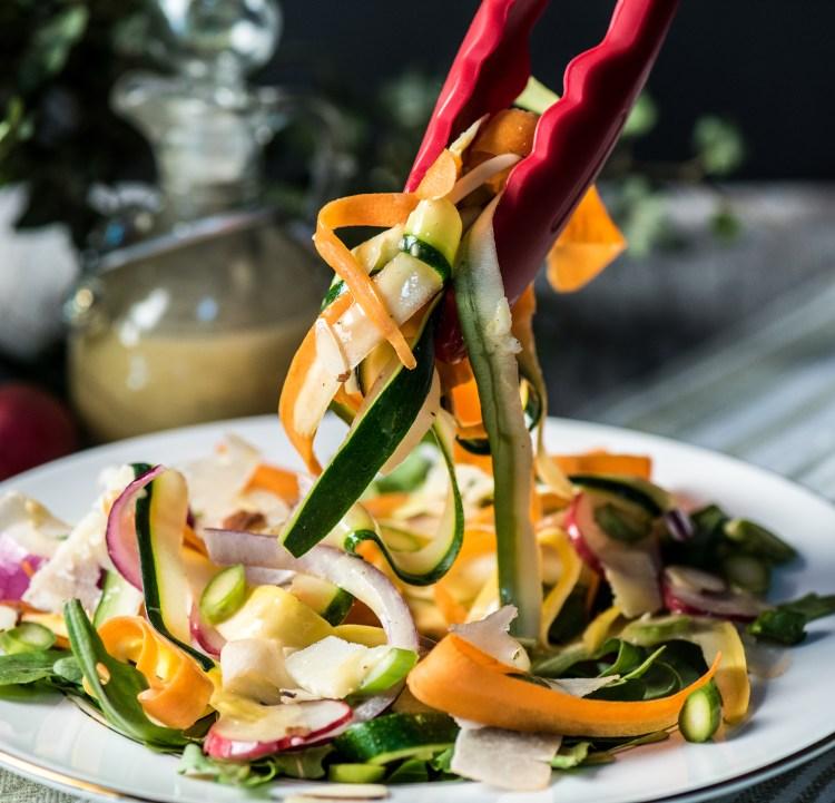 Low Carb Shaved Vegetable Salad