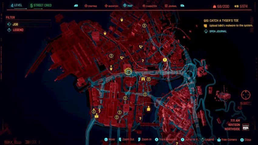 Catch a Tygar's Toe gig – Cyberpunk 2077