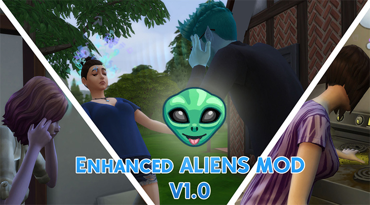 Improved Alien Mod Preview for The Sims 4