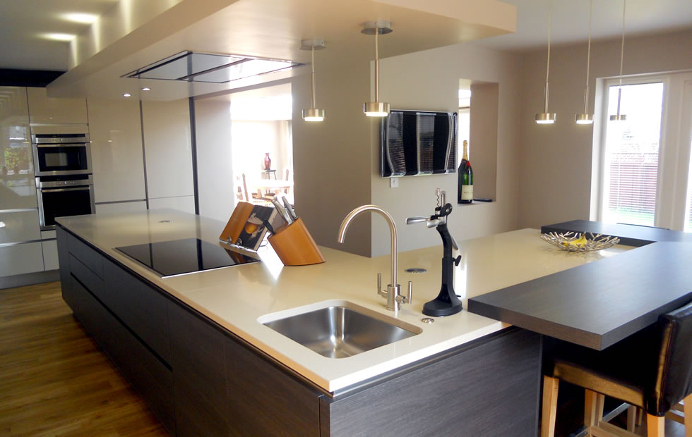 innovative kitchen design with a clean worktop