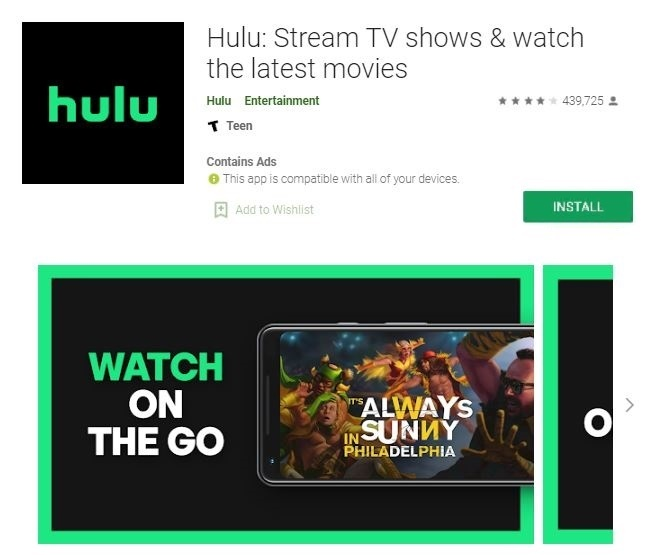 Install the Hulu application on a Samsung Smart TV