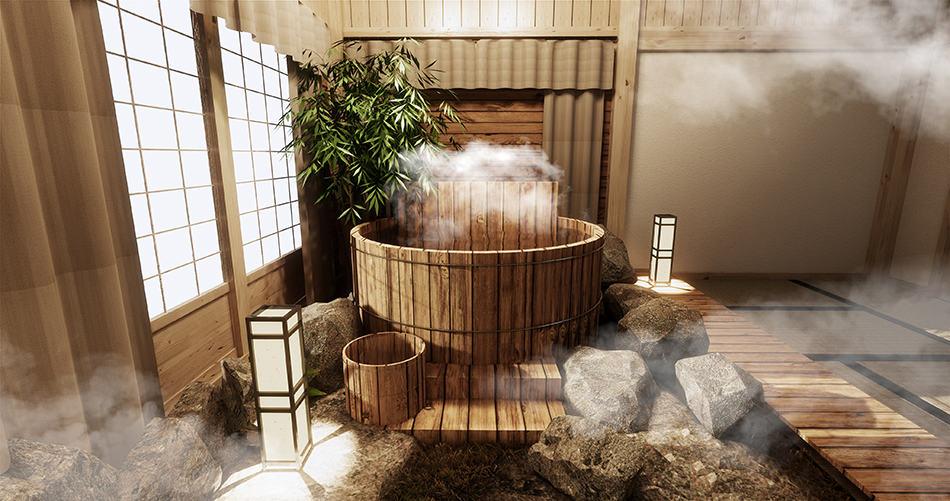 Installing a wooden bathtub