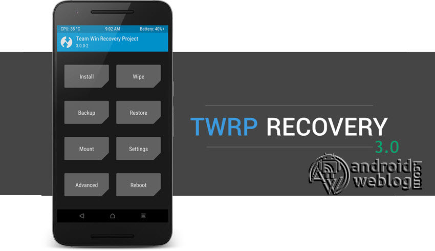 Installing TWRP 3.0
