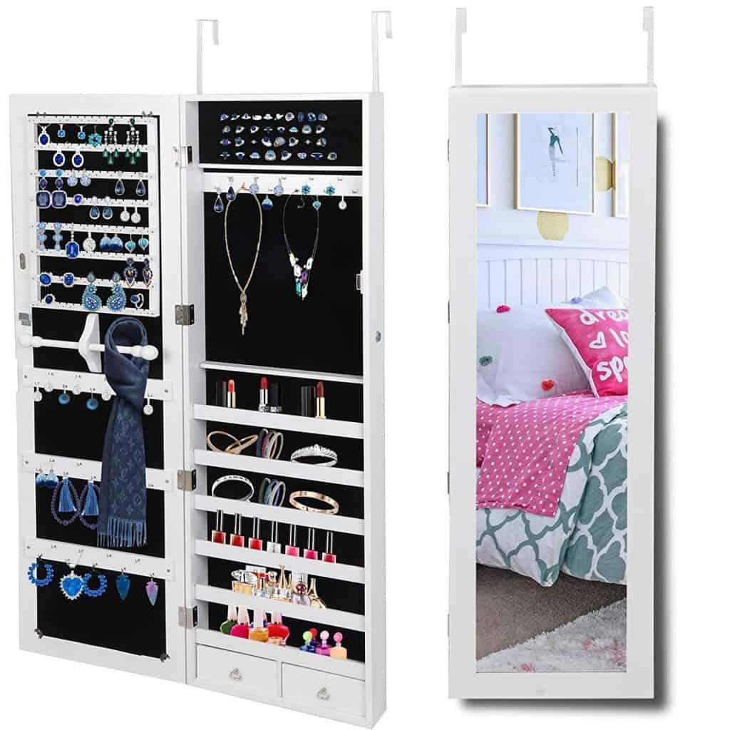 JupiterForce Wall Mount Jewelry Makeup Cabinets