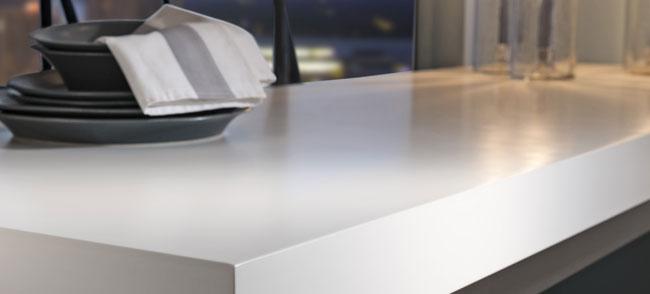 kitchen with solid worktop