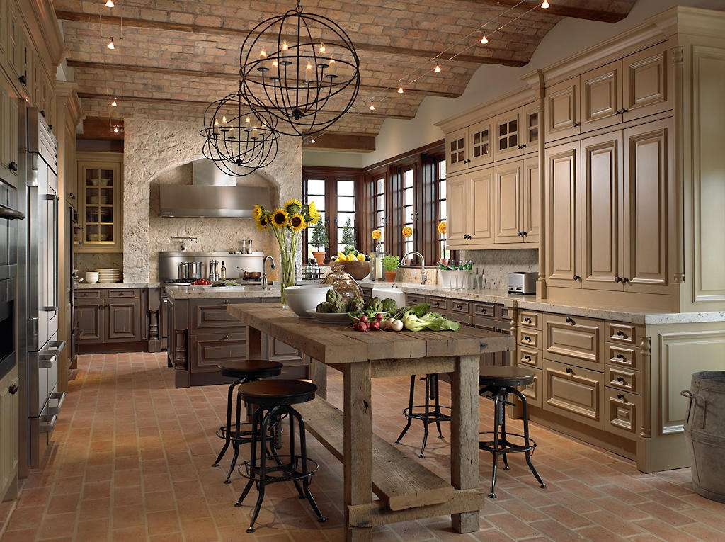 Kitchenette in rustic style