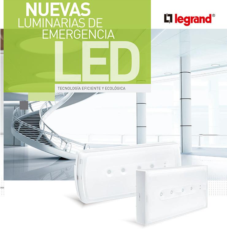 Luminaria LED de emergencia: URA ONE de Legrand