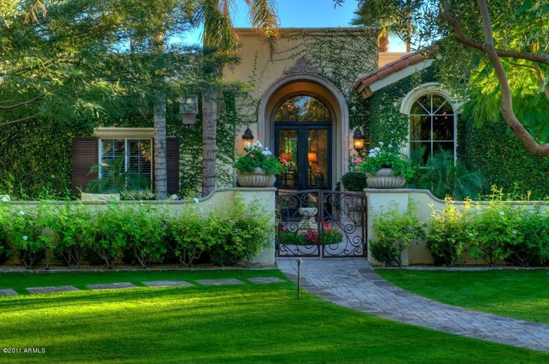 Landscaping in the traditional style of the house and garden