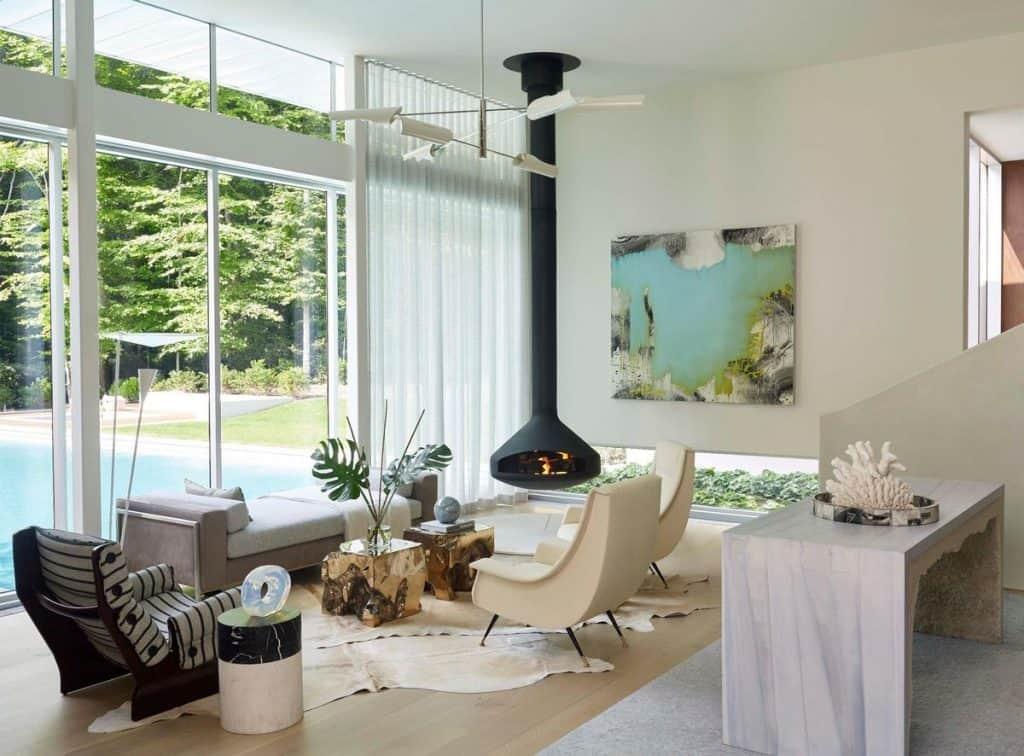 Large windows for the modern living room (par. deringhall.com)