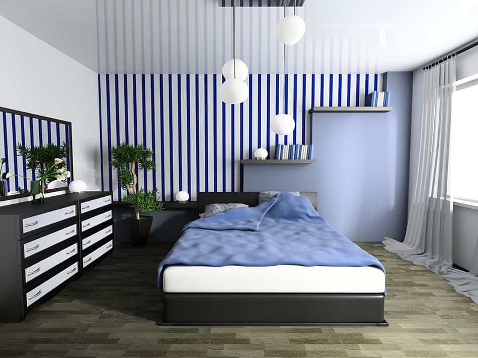 LED lighting in the blue room