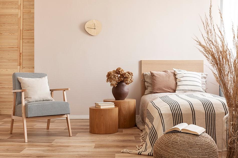 Light beige wood