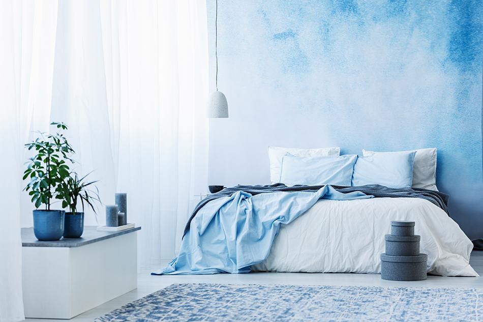 Light blue colour mixture