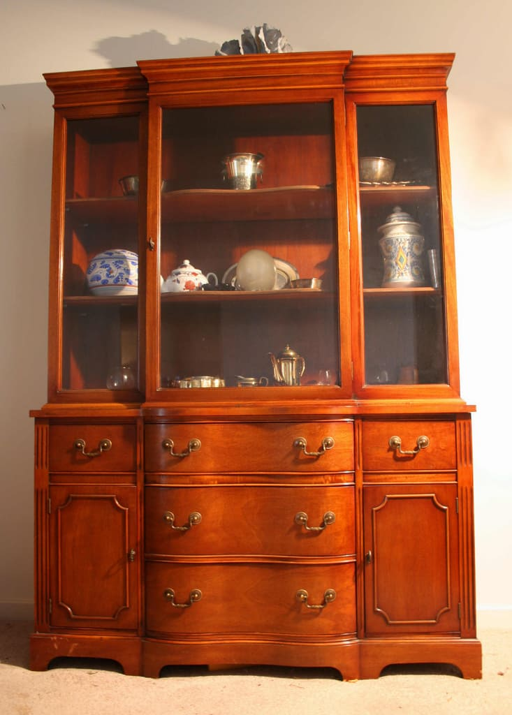 Living room with china cabinet